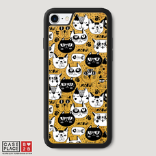 Диз. Черно-белые коты фон